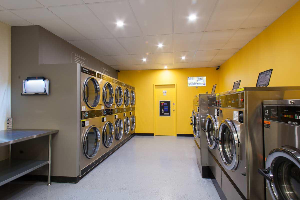 杭州洗衣店装修,洗衣店装修效果,杭州可靠店铺装修公司