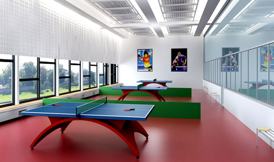 杭州乒乓球馆装修,杭州乒乓球馆装潢设计,杭州乒乓球馆装修效果图,杭州装修公司