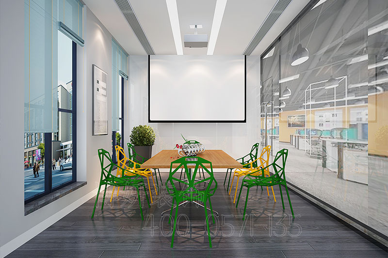 互联网金融企业办公室装修设计案例