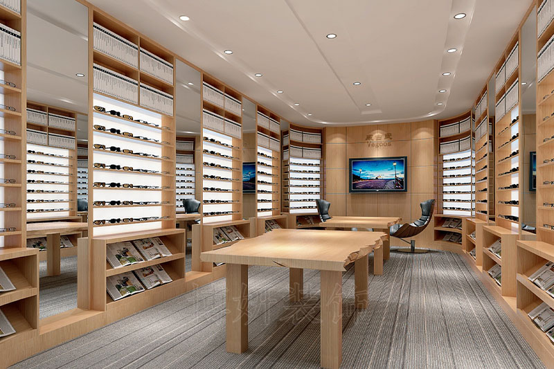 眼镜企业眼镜展厅装修设计案例