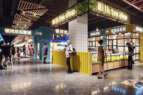 时尚美食广场美食城设计装修案例