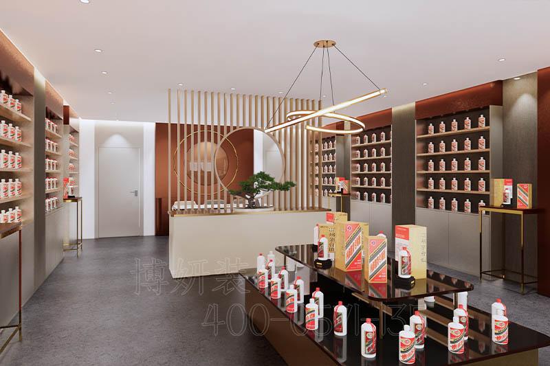 杭州白酒店铺展厅装修设计案例