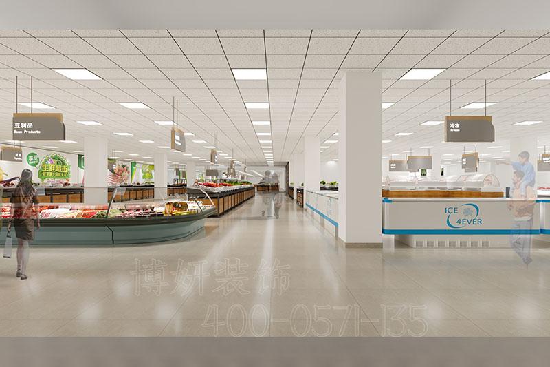 杭州农贸市场装修设计-专业农贸市场装潢效果案例