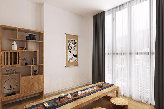 杭州中式風格瑜伽館裝修設計案例