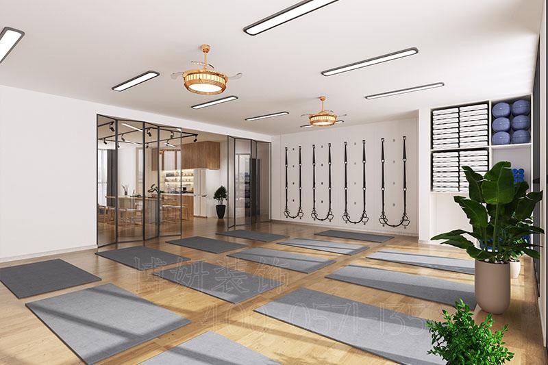 杭州中式风格瑜伽馆装修设计案例
