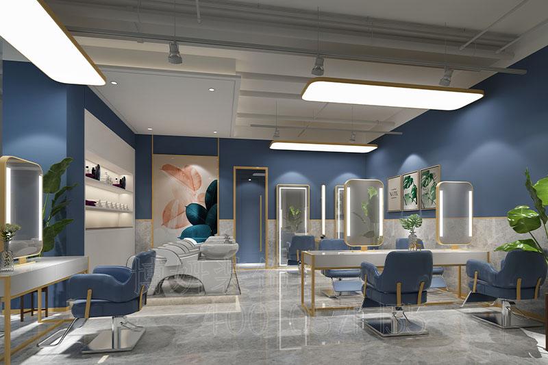 杭州美洛美容美发店装修设计-专属你的复合空间