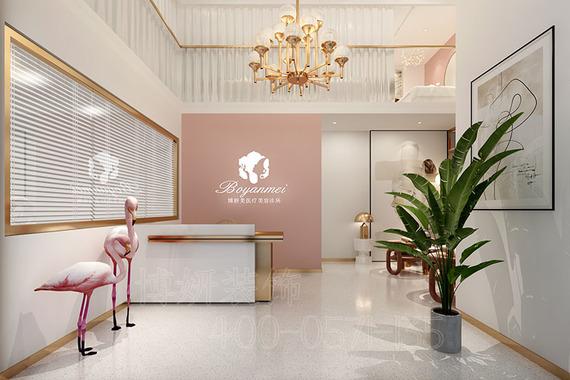 杭州少女清新系美容店装修设计-时尚美容空间效果案例