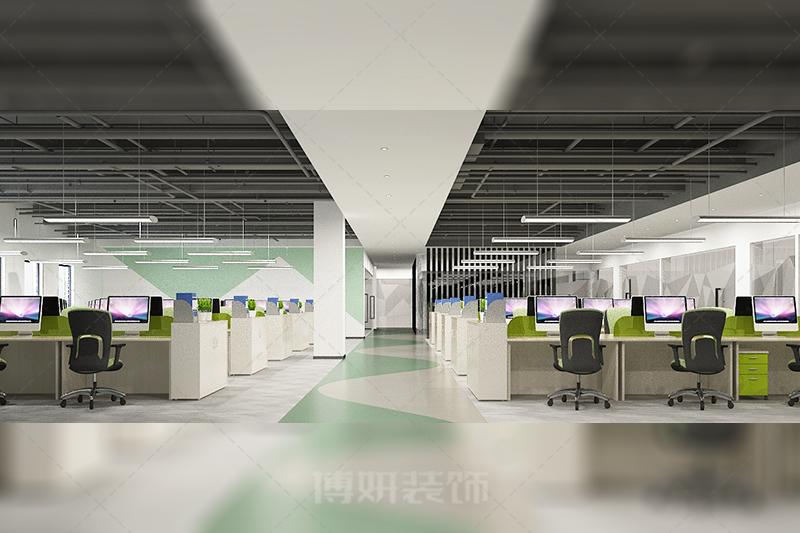 杭州开化益翔生物科技办公室设计装修案例赏析