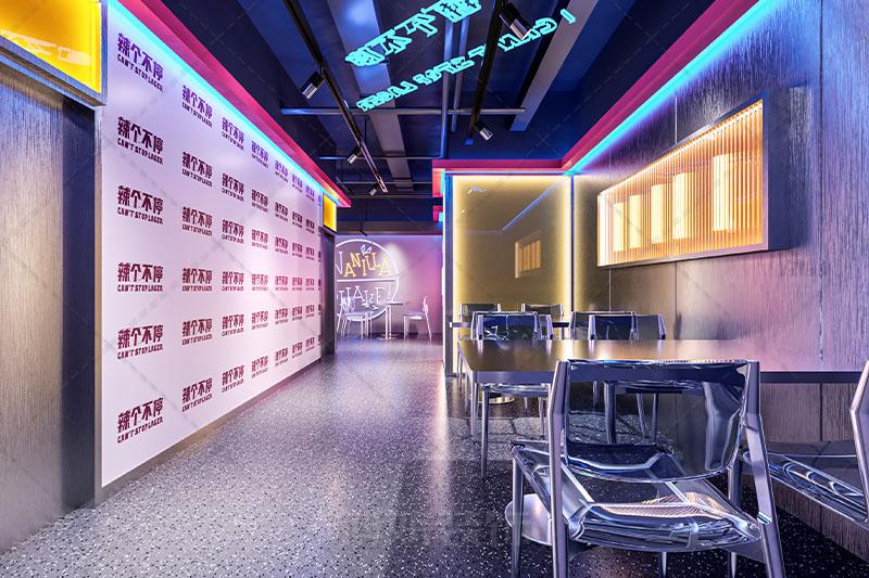 杭州辣个不停网红主题餐厅设计装修案例赏析
