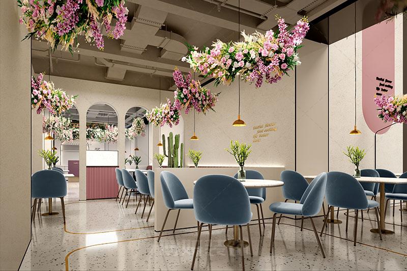 杭州花泰主题餐厅设计装修案例赏析