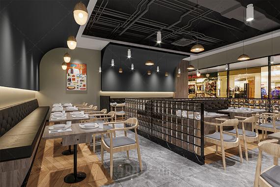 杭州万达特色料理小吃店装修设计案例赏析
