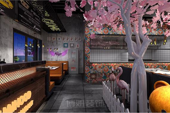 杭州湘湖龙虾馆特色小吃店装修设计案例赏析