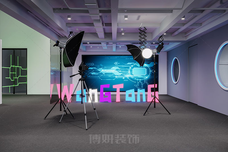 杭州海棠文化办公直播间设计装修案例赏析