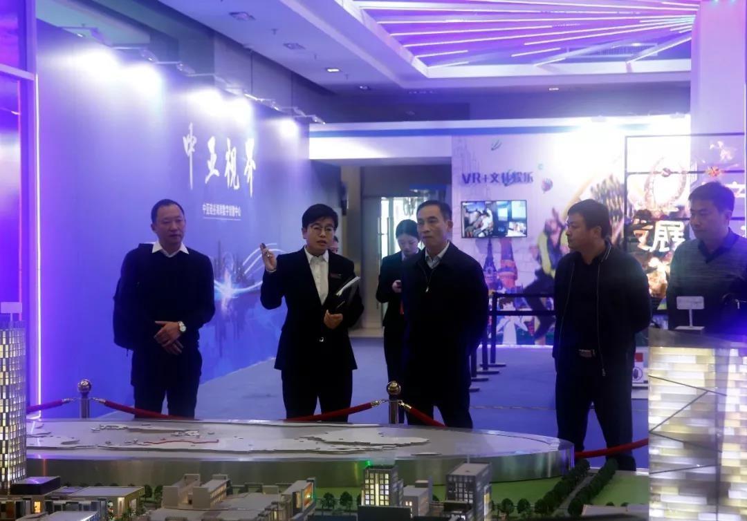 湖北省荆州沙市区人民政府区长黄勇一行参观中亚项目沙盘