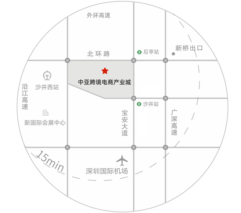 中亚国际跨境电商产业城平面图