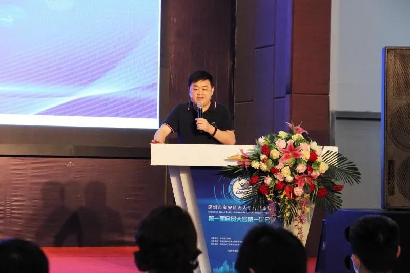 中国青年创业基金会理事、法国巴黎商学院深圳DBA中心主任沈德春致辞