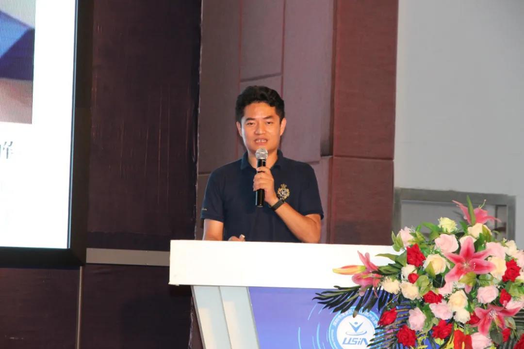 深圳酷农无人机产业开发应用公司董事长刘立波作为会长致辞
