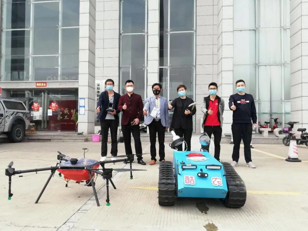 """中亚联合酷农""""无人机+无人车""""进行园区全面消杀"""