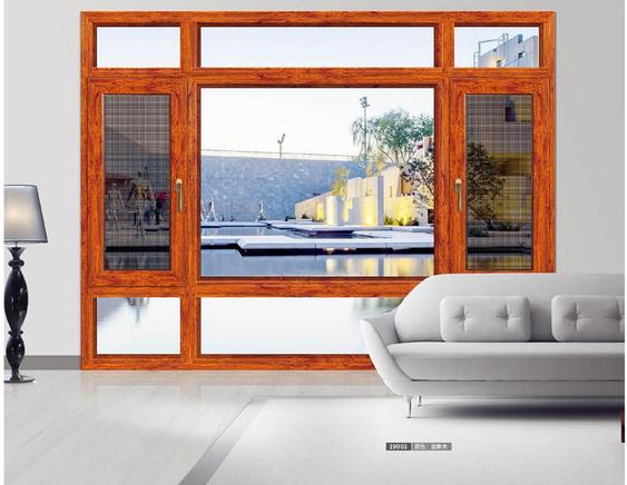 108斷橋紗窗一體平開窗