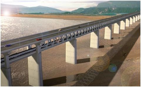 河南三门峡黄河公铁两用大桥