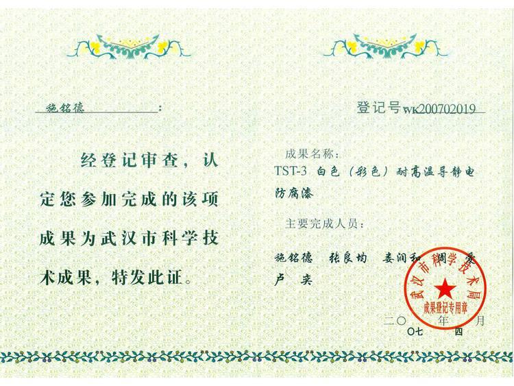 TST-3成果证书