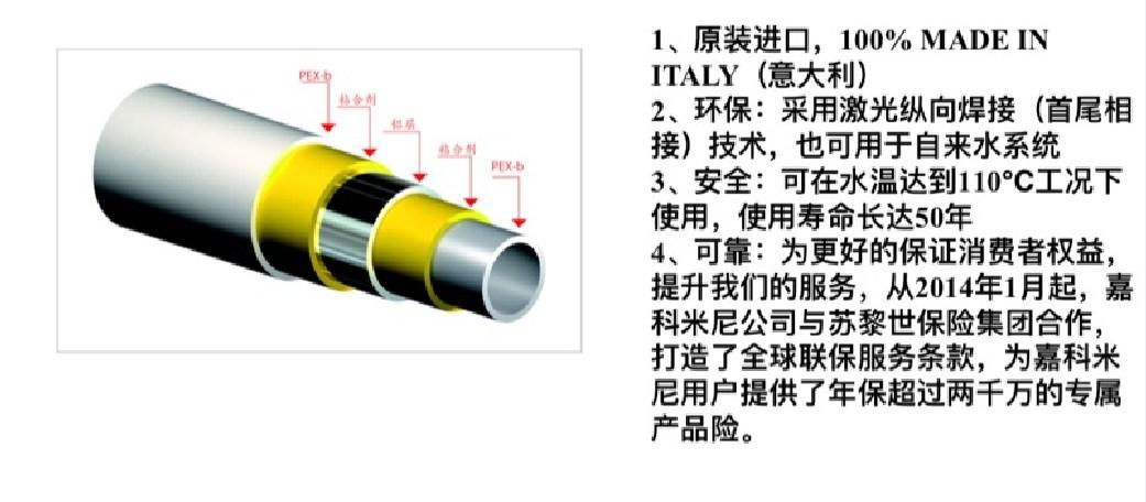 铝塑复合管卖点说明